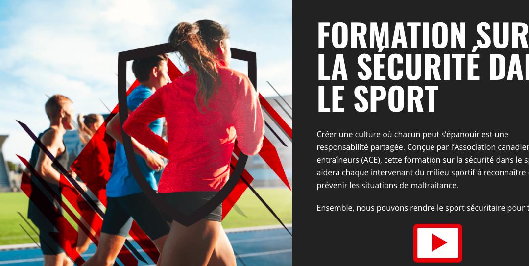 Association canadienne des entraîneurs : Formation sur la sécurité dans le sport